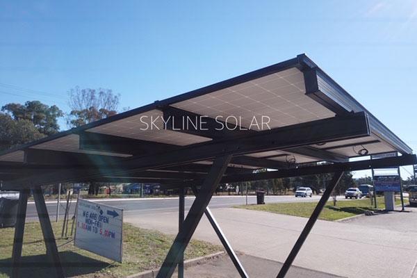 Car port with solar power